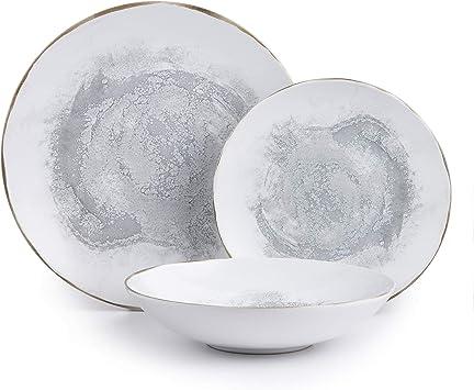 Amazon.com: Porto - Vajilla de cerámica para 4 y 12 ...