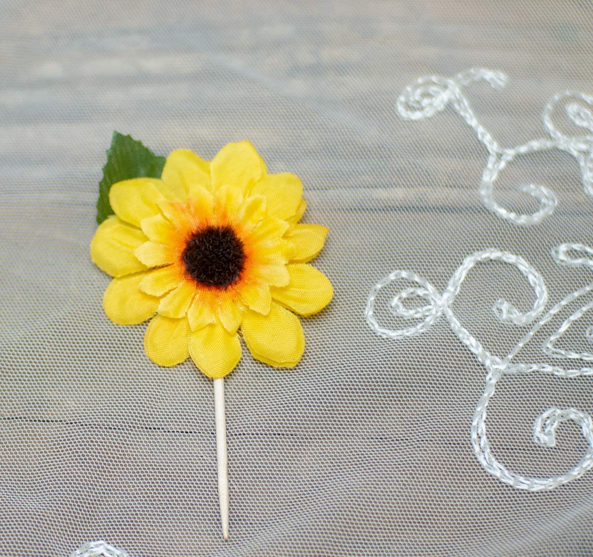 Sun Flower Baby Shower Decorations Sun Flower Cake Decorations Bridal Shower Decor,10 pieces Sunflower Cupcake Toppers Birthday Party Decorations
