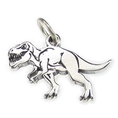 Sterling Silver T-Rex Dinosaur Clip on Charm
