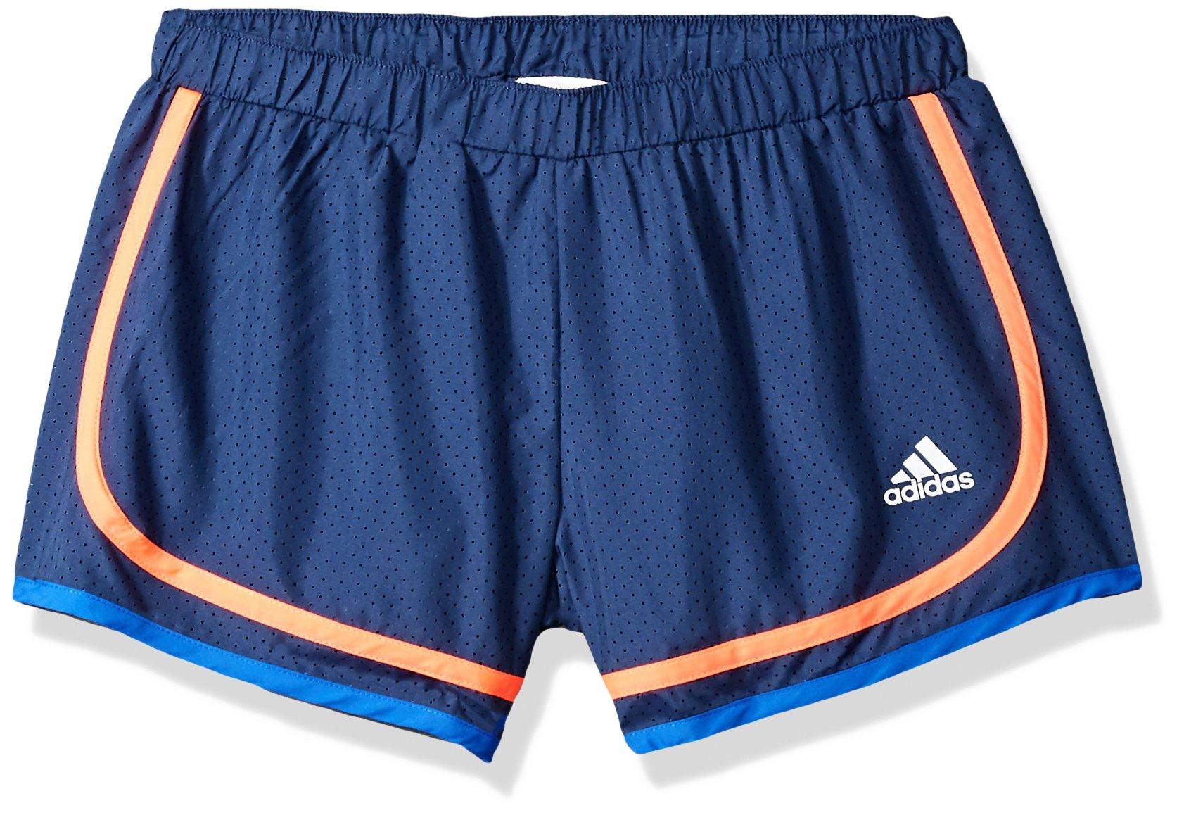 adidas Big Girls' Athletic Shorts, Noble Indigo Ad, Medium