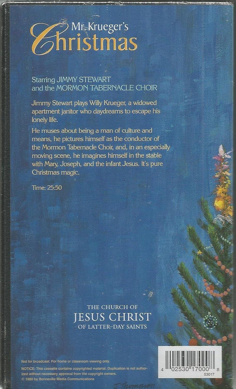 Amazon.com: Mr. Krueger\'s Christmas: Jimmy Stewart, Mormon ...