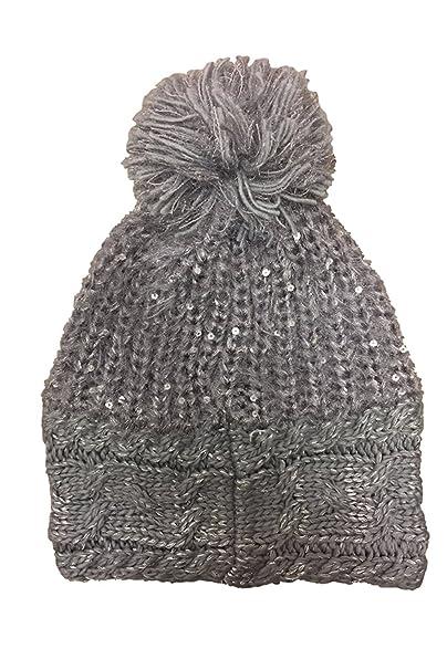 10f5881452510 Amazon.com  Betsey Johnson Women s Beanie One Size (Grey)  Clothing