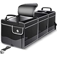 Trunk Organizer with Cooler, Collapsible Trunk Storage Container with Non Slip Bottom Strips, Large Multi-Compartment…