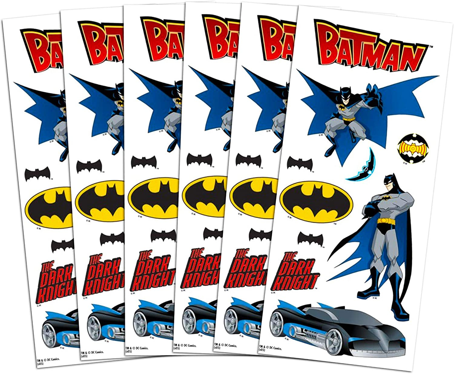 Over 400 Batman Stickers 24 Batman Party Favors Sticker Sheets Batman Sticker Playset DC Comics Batman Stickers Party Supplies Pack