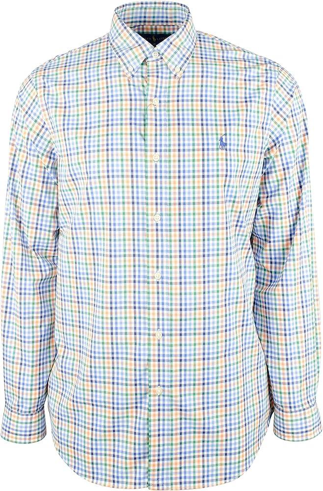 Polo Ralph Lauren Custom Fit Gingham Camisa - Multicolor - Medium: Amazon.es: Ropa y accesorios