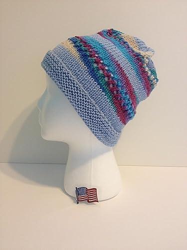 8d68888ffbc18 Amazon.com  Handknit Hat 100% Merino Wool - One of a Kind  Handmade
