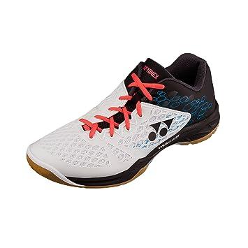 ASHION Damen Hallensportschuhe/Badminton-Schuhe Herren Squashschuhe Herren Badminton Schuhe Kinder Leicht Sportschuhe Turnschuhe (40 EU, Weiß)