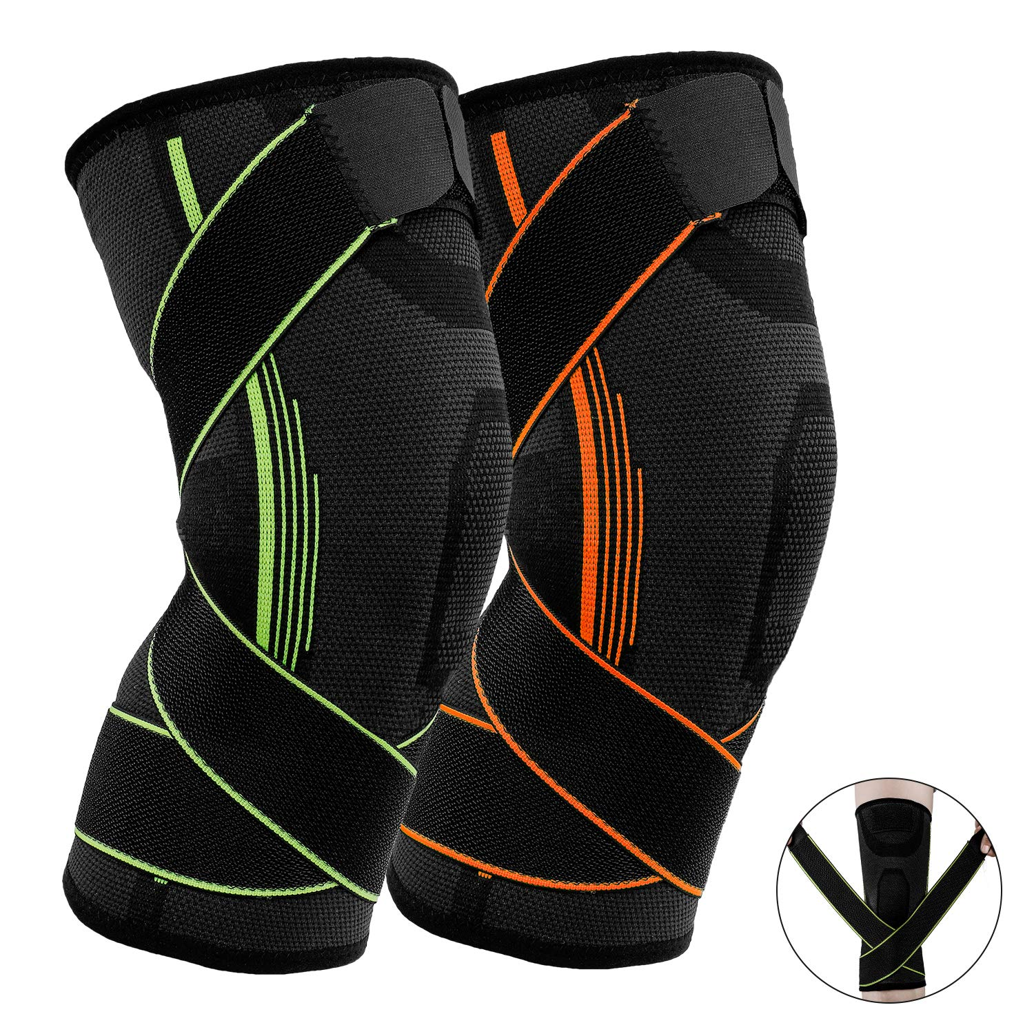Fitness Atletiek Yoga Single Ply Breathable Knee Sleeves Compression And Support For Weightlifting Harmonics Co Jp