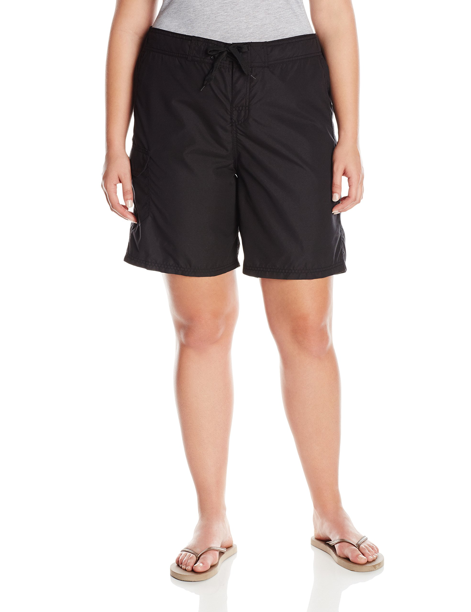 Kanu Surf Women's Plus-Size Marina Board Shorts, Black, 2X