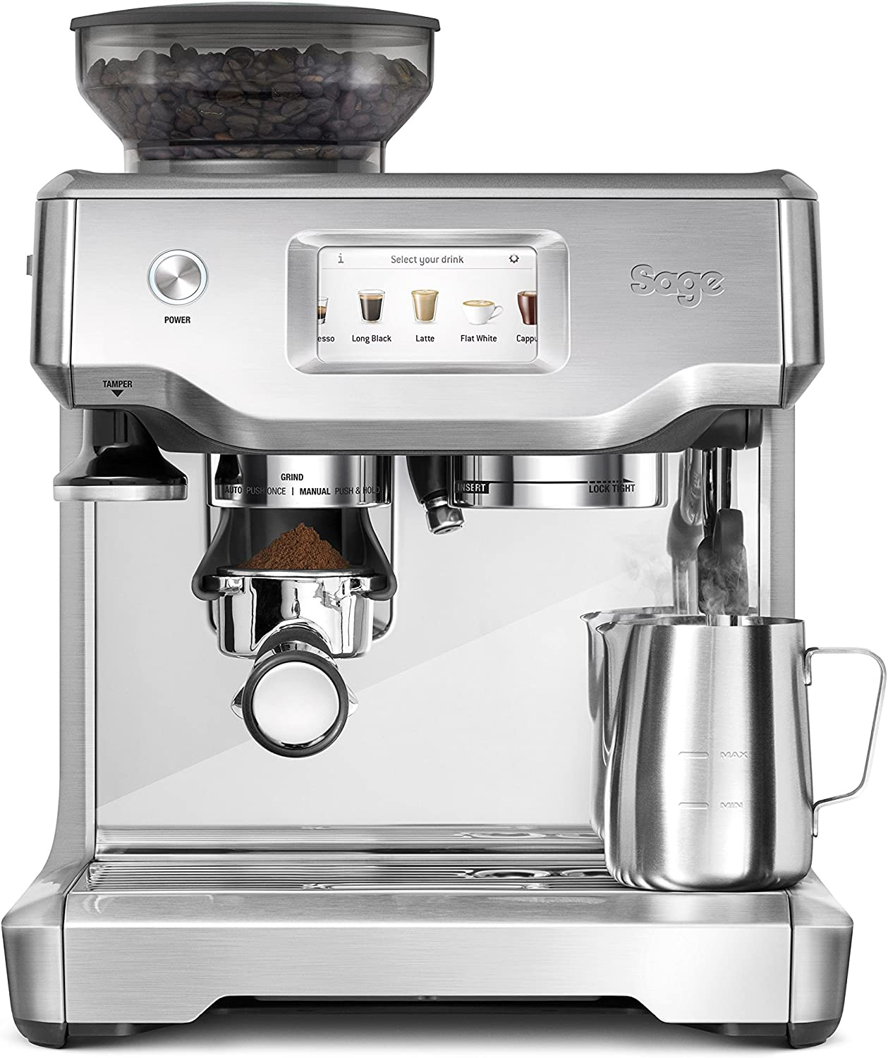 SAGE SES880BSS the Barista Touch, Cafetera espresso, Cappuccinatore, 15 Bar, acero inoxidable: Amazon.es: Hogar