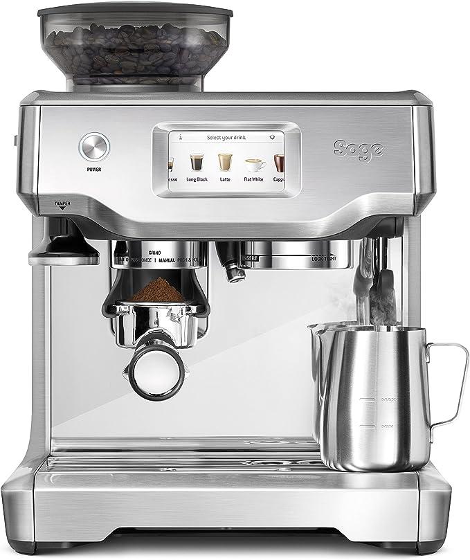 SAGE SES880BSS the Barista Touch, Cafetera espresso, Cappuccinatore, 15 Bar, acero inoxidable: Amazon.es: Hogar