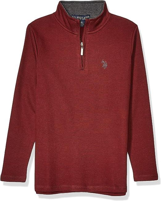 Boys Long Sleeve Solid Crew Neck T-Shirt Polo Assn U.S