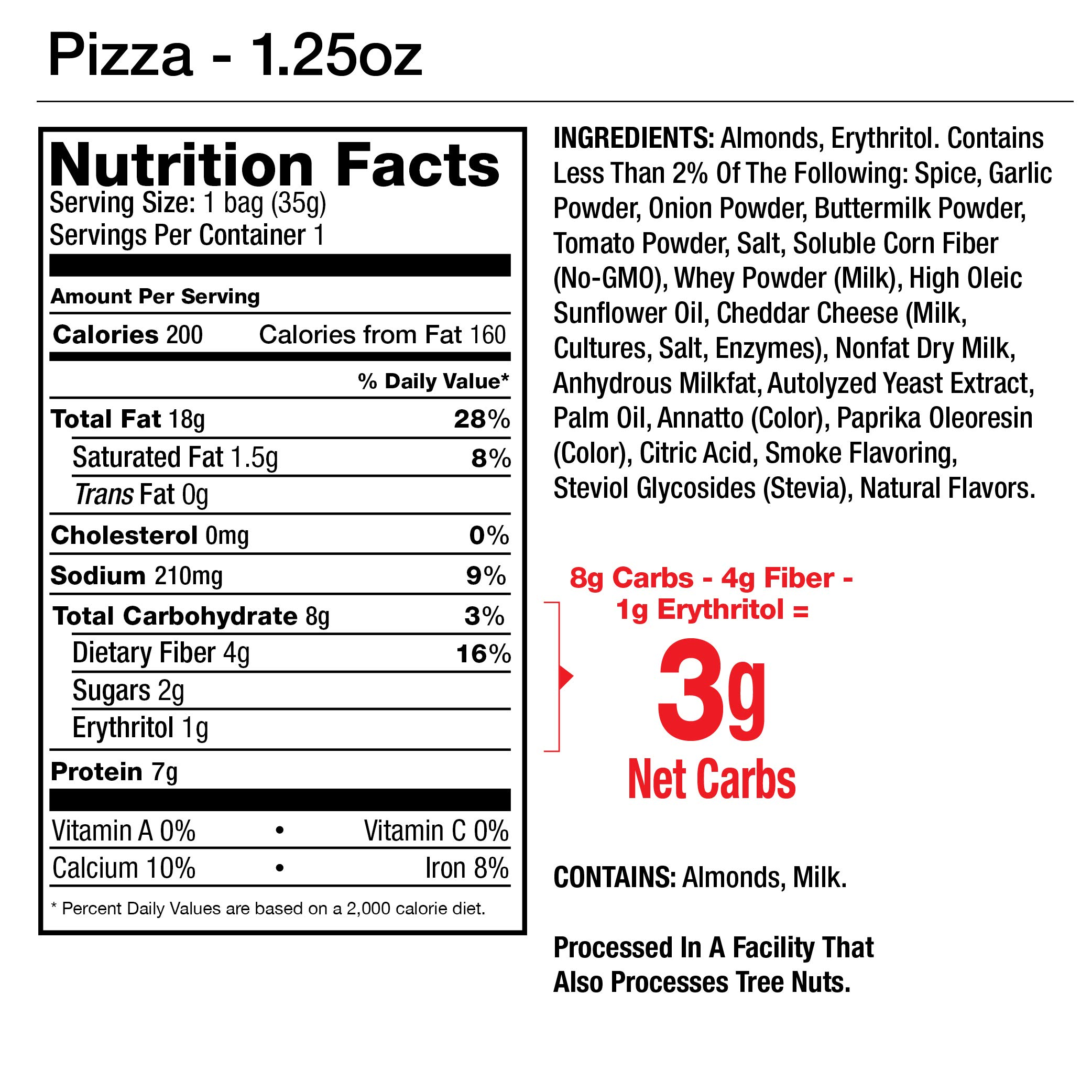 Legendary Foods Seasoned Almonds | Keto Friendly, Low Carb, Good Protein & Fat | Pizza Flavored (1.25oz, Pack of 12) by Legendary Foods (Image #3)