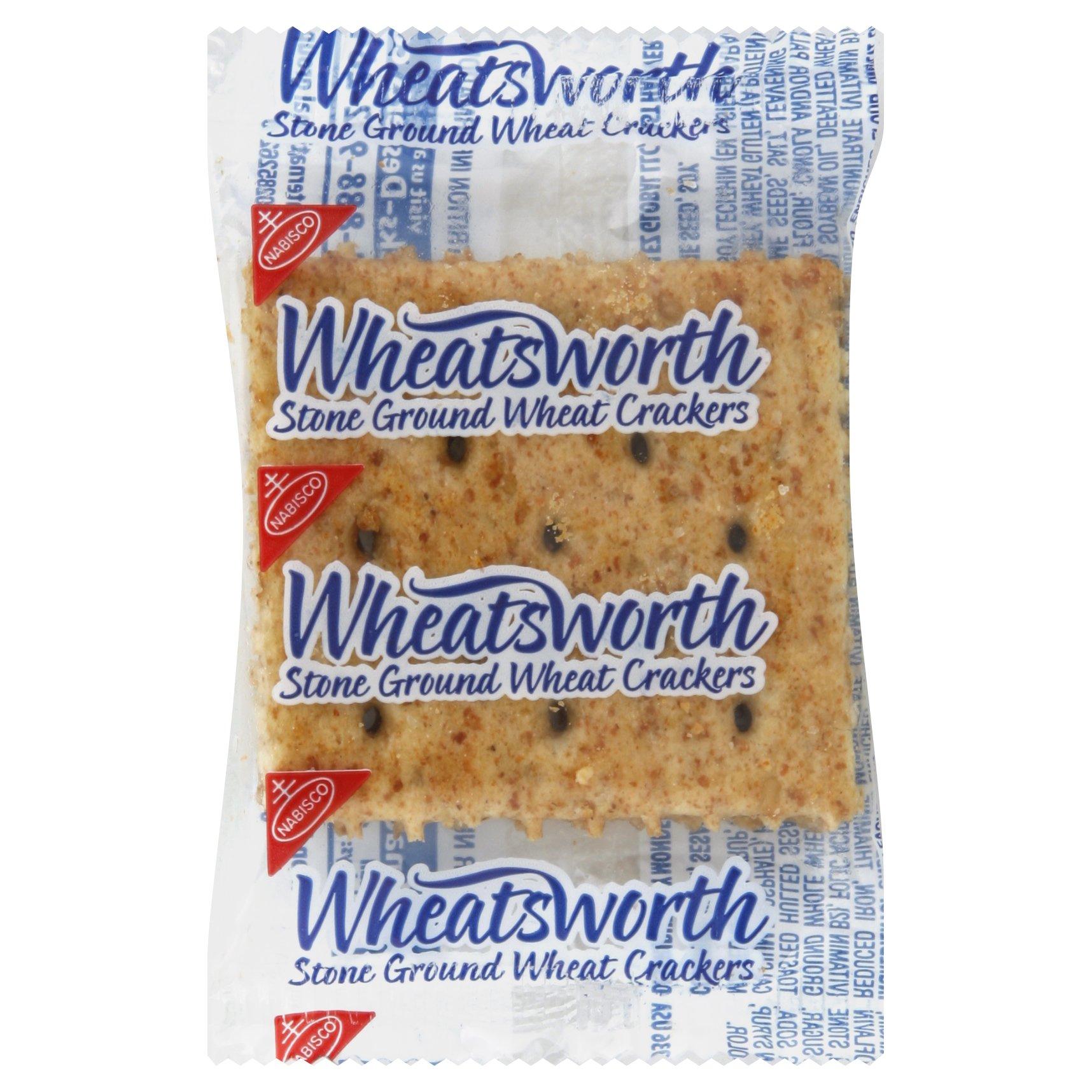 Nabisco Wheatsworth Stone Ground Wheat Crackers, 0.2 Ounce (Pack of 500)