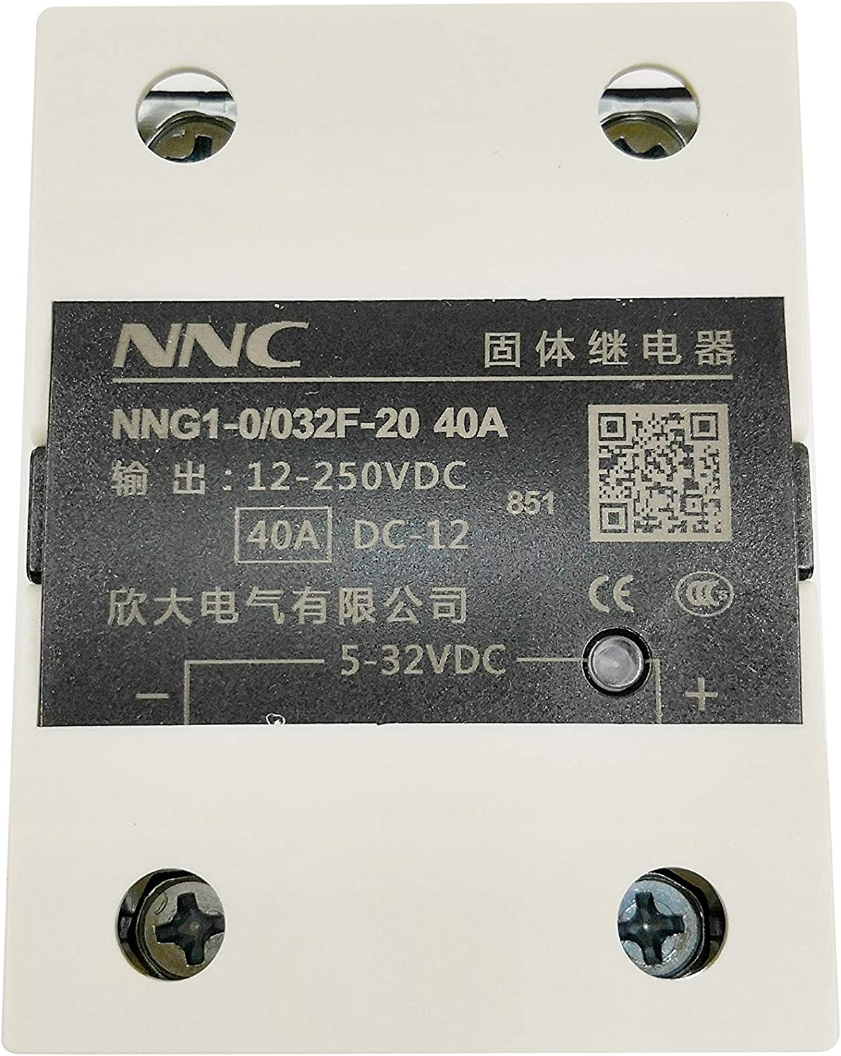 Jhe Solid State Relay 40A DC to DC 5-32VDC to 12-250VDC