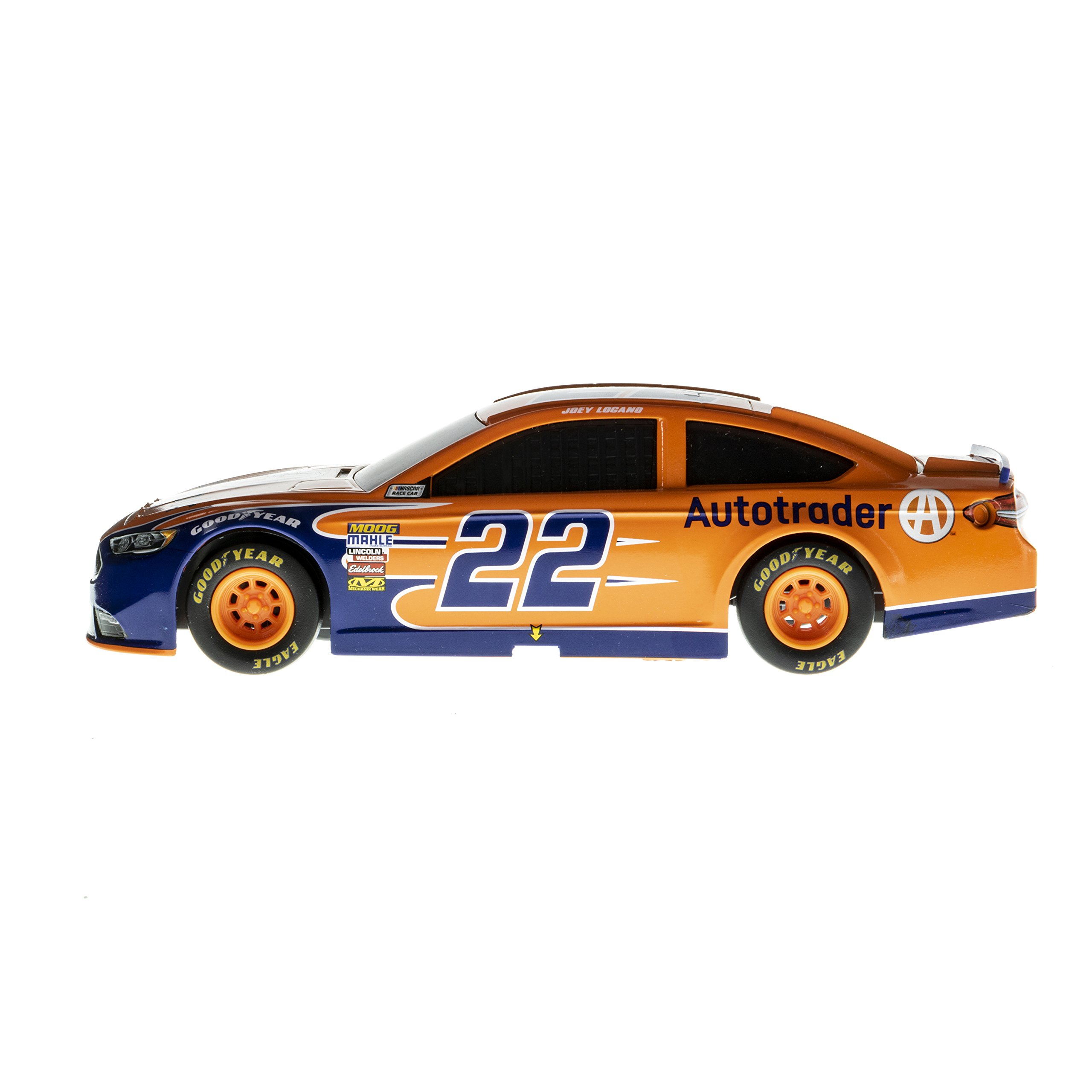 Lionel Racing 15450 NASCAR Authentics 2018 Joey Logano #22 Auto Trader Lionel Racing Diecast, Blue, Orange, White; 1: 24 Scale