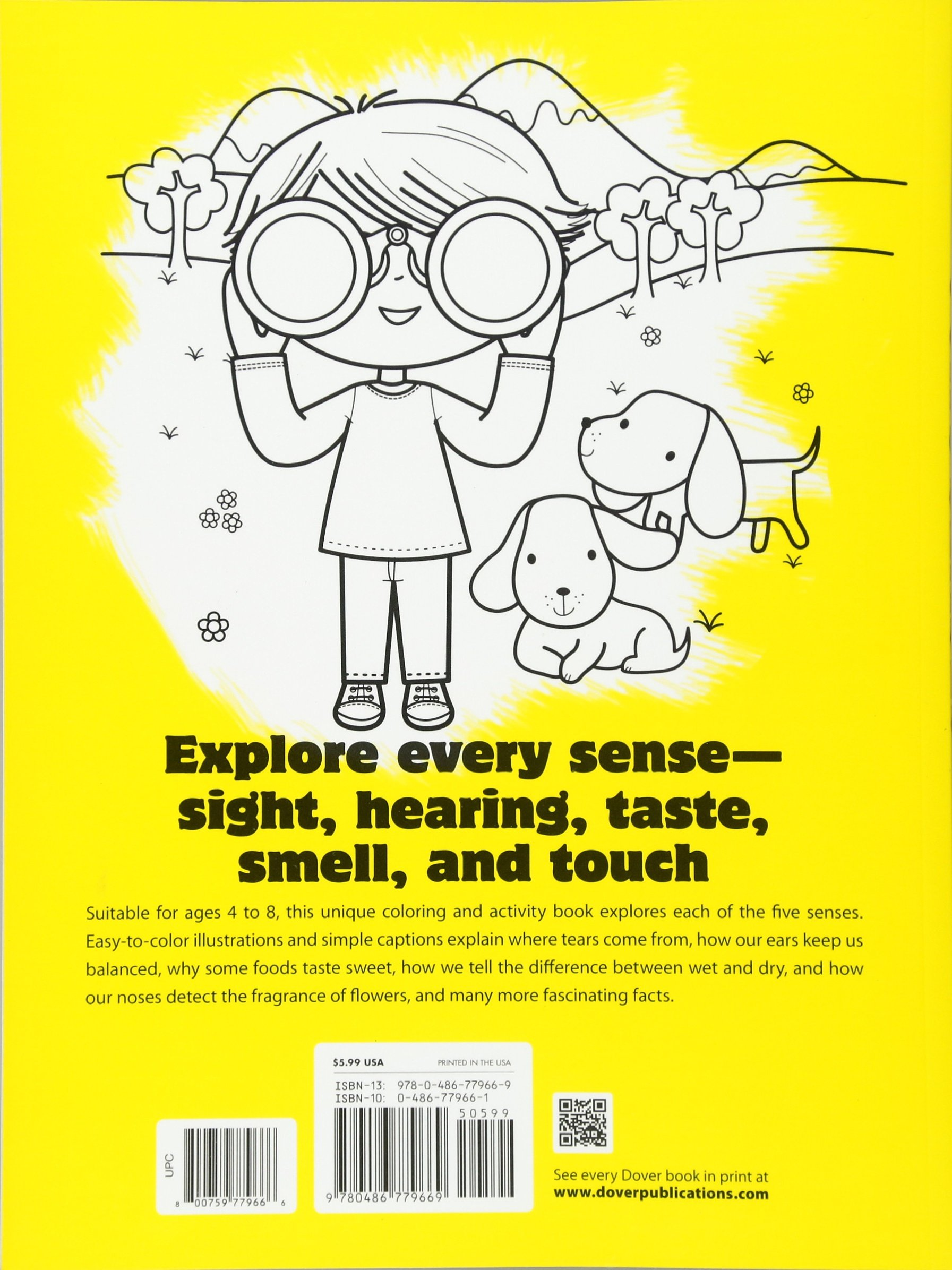 Our 5 Senses Coloring Book (dover Coloring Books For Children): Jillian  Phillips, John Kurtz: 9780486779669: Amazon: Books