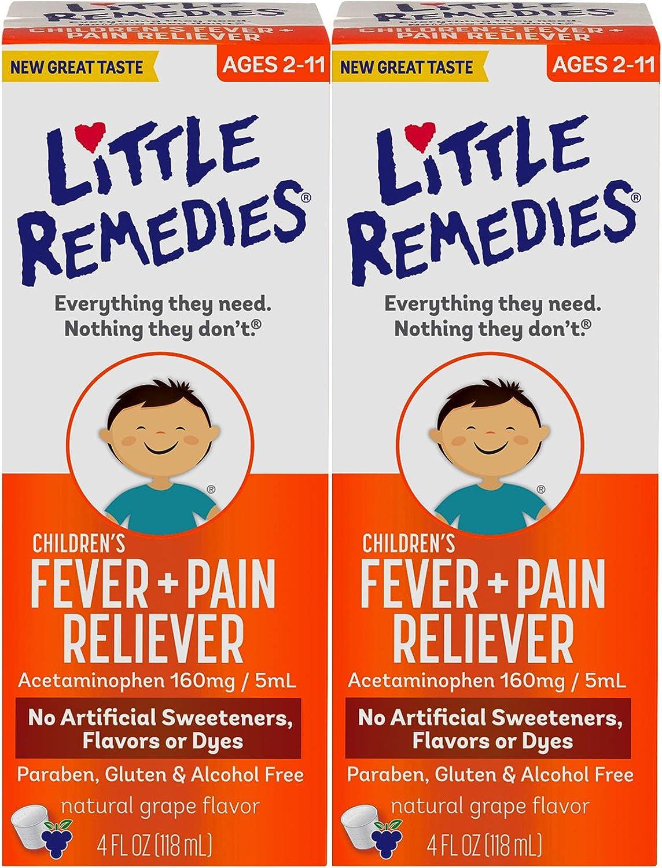 Little RemediesChildren's Fever & Pain Reliever   Grape  4 FL OZ   2 Pack