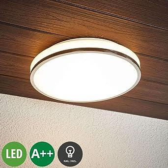 Lindby Led Deckenlampe Lyss Spritzwassergeschutzt Modern In
