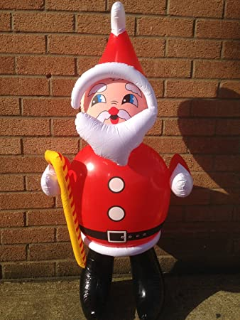 large inflatable santa clause father christmas approx 120cm in height great fun christmas