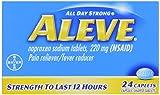 Aleve Pain Reliever/Fever Reducer Caplets 24 ea