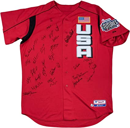 2003 All Star Futures Game Team Signed Jersey Joe Mauer Rookie JSA ...