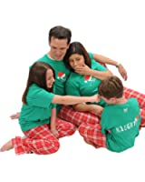 Naughty-Nice 2 Sided Family Christmas Holiday Matching Pajamas for Adults, Playwear for Children, Baby