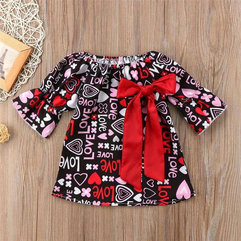 Amazon Little Girls Cotton Lovely Love Print Half Sleeve