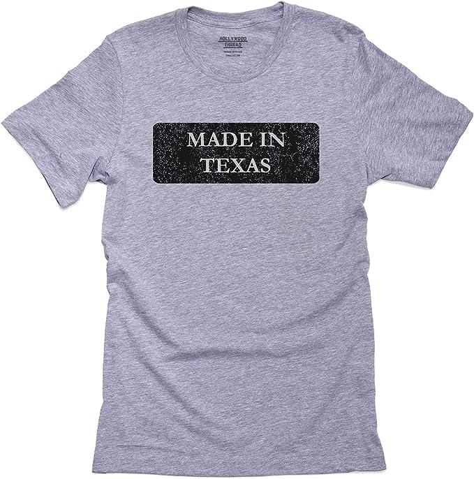 Hip fabricado en estado de Texas Pride camiseta de manga corta para hombre: Amazon.es: Ropa y accesorios