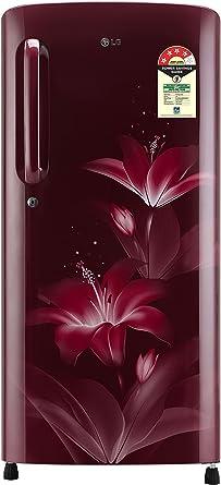 LG 190 L 4 Star Direct Cool Single Door Refrigerator(GL-B201ARGX.ARGZEBN, Ruby�