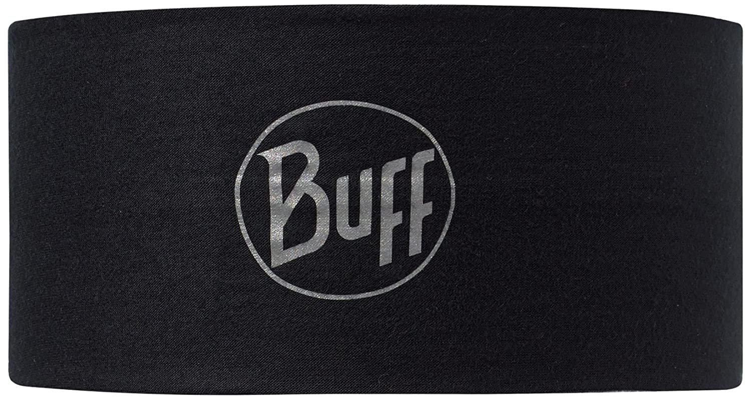 BUFF Headwear Headband Tech Black Logo Multifunktionstuch Schlauchtuch