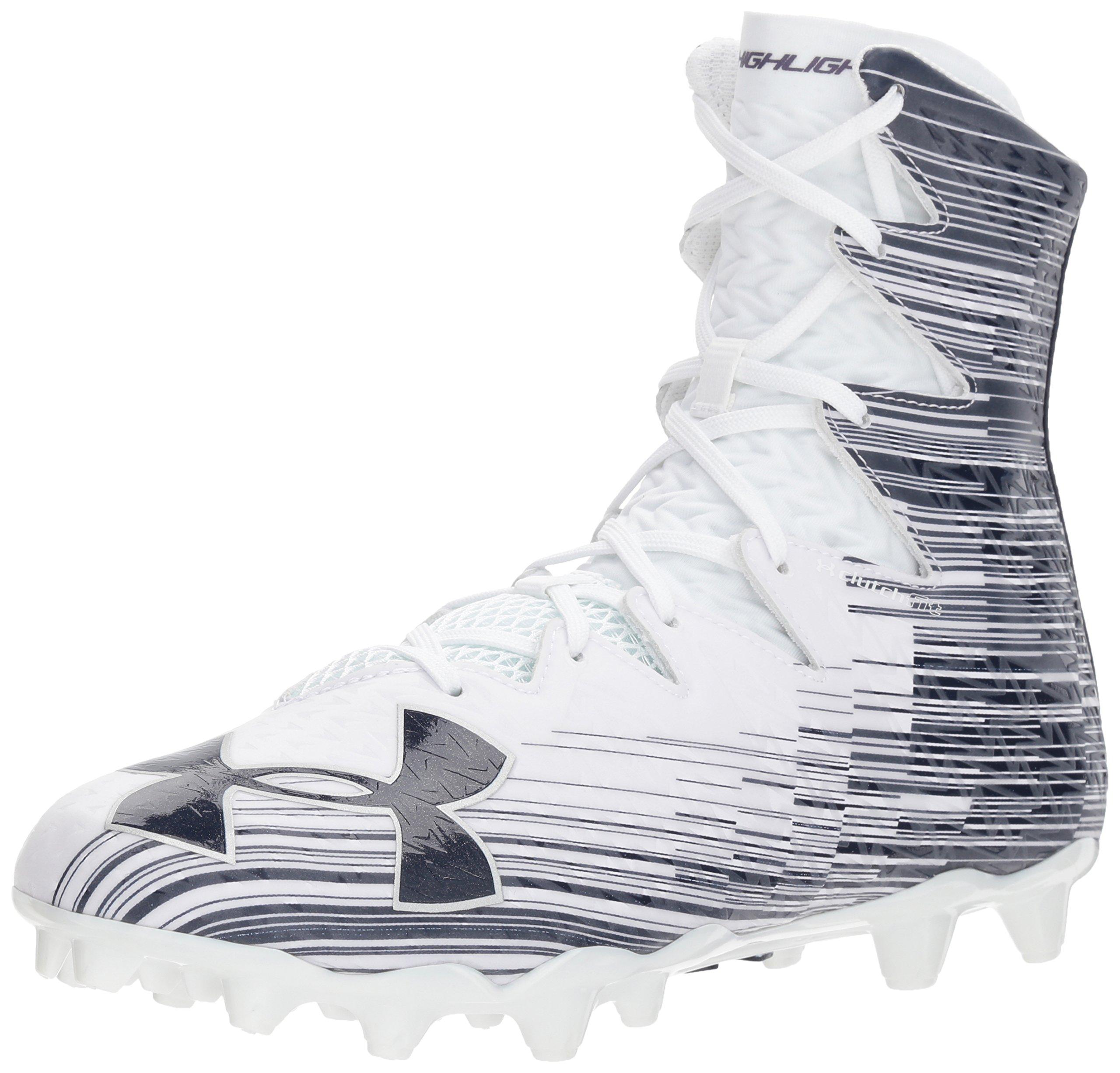 Under Armour Men's Highlight M.C. Lacrosse Shoe, White (142)/Midnight Navy, 7