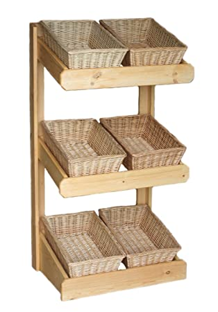 Wicker Kitchen Storage Or Shop Display Unit For Boutique, Farm, Grocery,  Bakery.