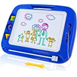 SGILE Large Magnetic Drawing Board - Erasable Scribble Board Colorful Magna Doodles Writing Pad Learning toys for Kids Children Toddlers, 41.5×32.5 cm, Blue