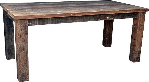 Guru-Shop Mesa de Comedor de Tablones de Madera Rústicos (JH3-181 ...