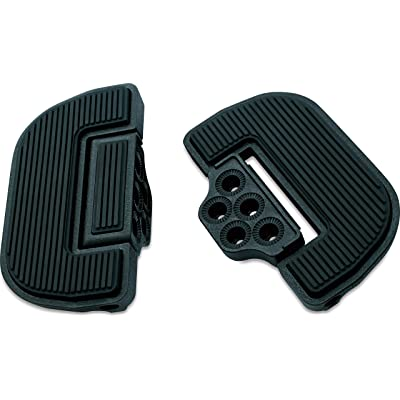 Kuryakyn 4357 Motorcycle Foot Control Component: Ribbed Folding Boards for Driver or Passenger Floorboards, Wrinkle Black, 1 Pair: Automotive