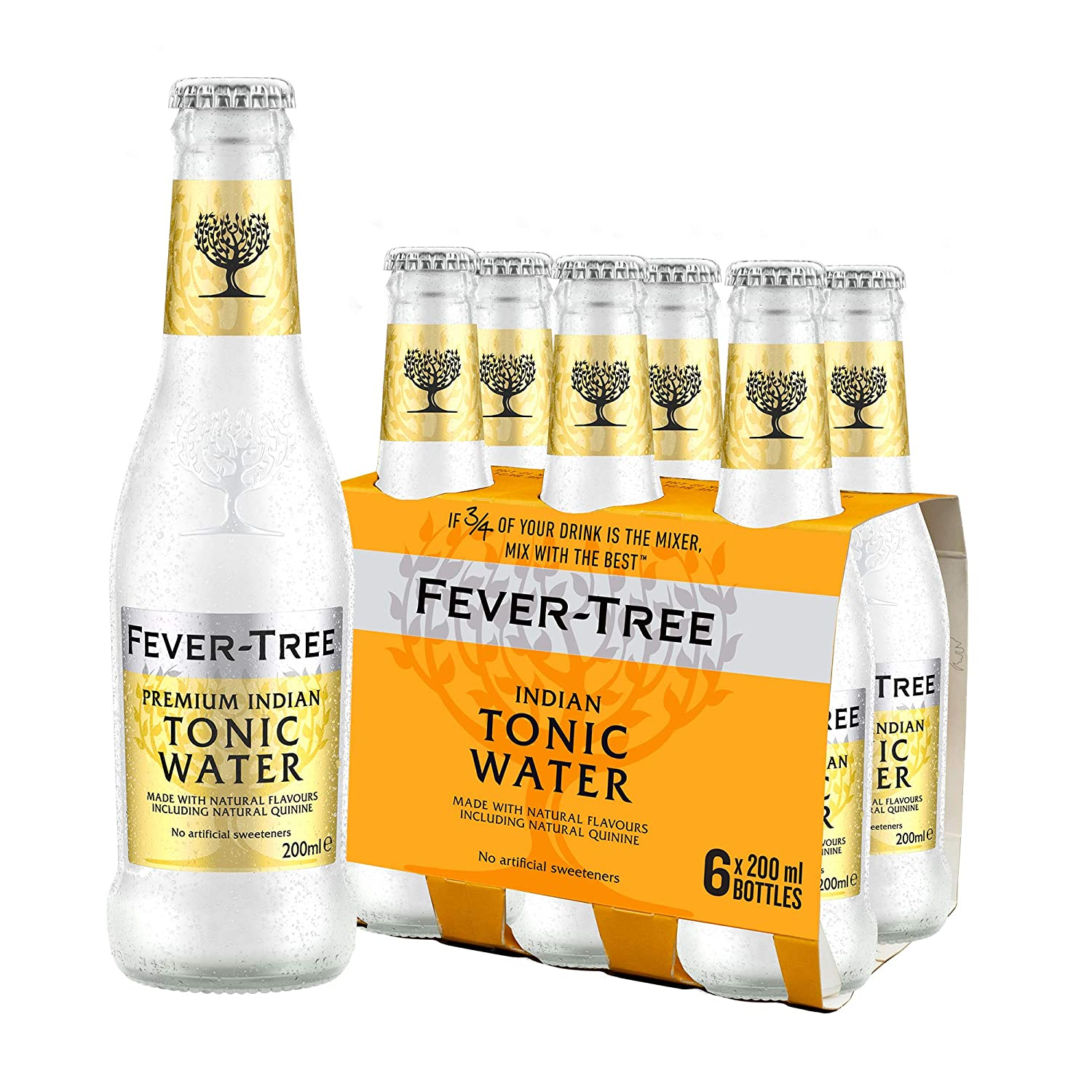 Fever-Tree Premium Indian Tonic Water (Pack of 6 x 200 ml)