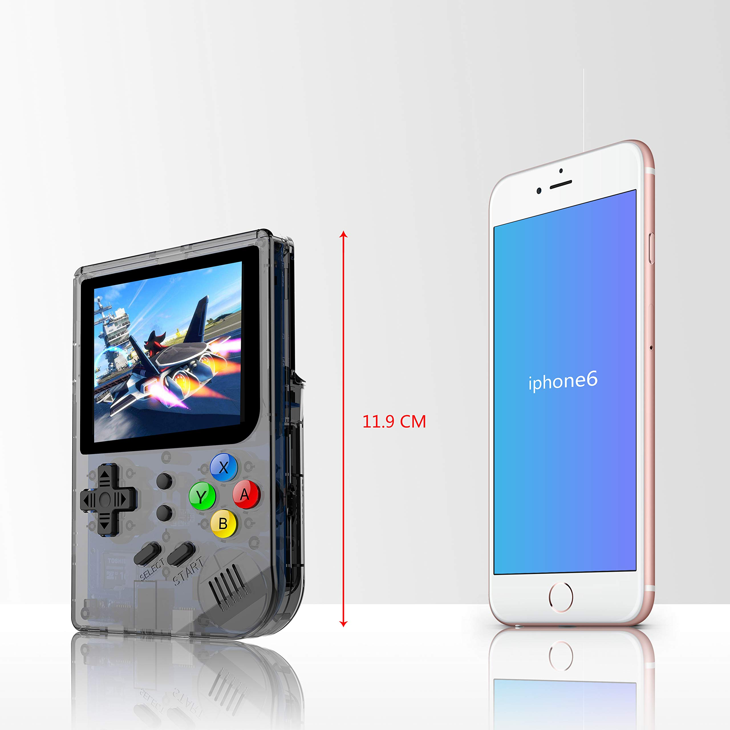 BAORUITENG 2019 Upgraded Opening Linux Tony System Handheld Game Console , Retro Game Console with 32G TF Card Built in 3007 Classic Games, Portable Video Game Console of 3 Inch IPS Screen (Black) by BAORUITENG (Image #1)