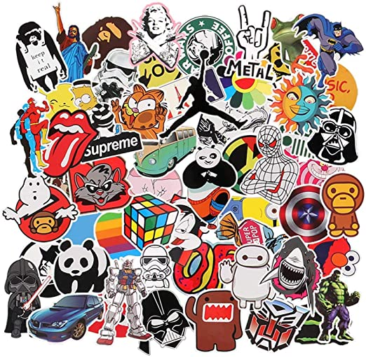 Neuleben Aufkleber Pack 150 Pcs Graffiti Sticker Decals Vinyls Für Laptop Kinder Autos Motorrad Fahrrad Skateboard Gepäck Bumper Sticker Hippie Aufkleber Bomb Wasserdicht Küche Haushalt