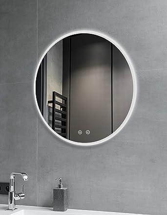 SGSpiegel Badspiegel mit Beleuchtung – Badezimmerspiegel mit LED  beleuchtete Antibeschlag, 60cm, Weiß Lichtfarbe, Energieklasse A++