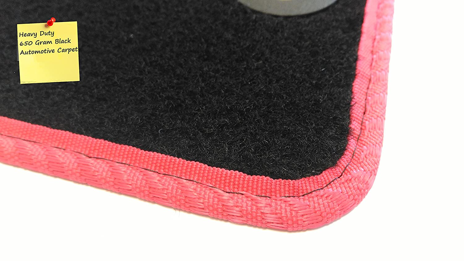 Fully Tailored Car Mats Set of 4 5005950 Black by Connected Essentials Deluxe