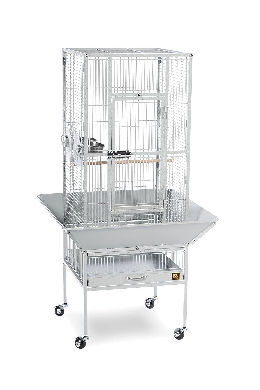 Amazon com prevue pet products 3351w park plaza bird cage pewter pet supplies