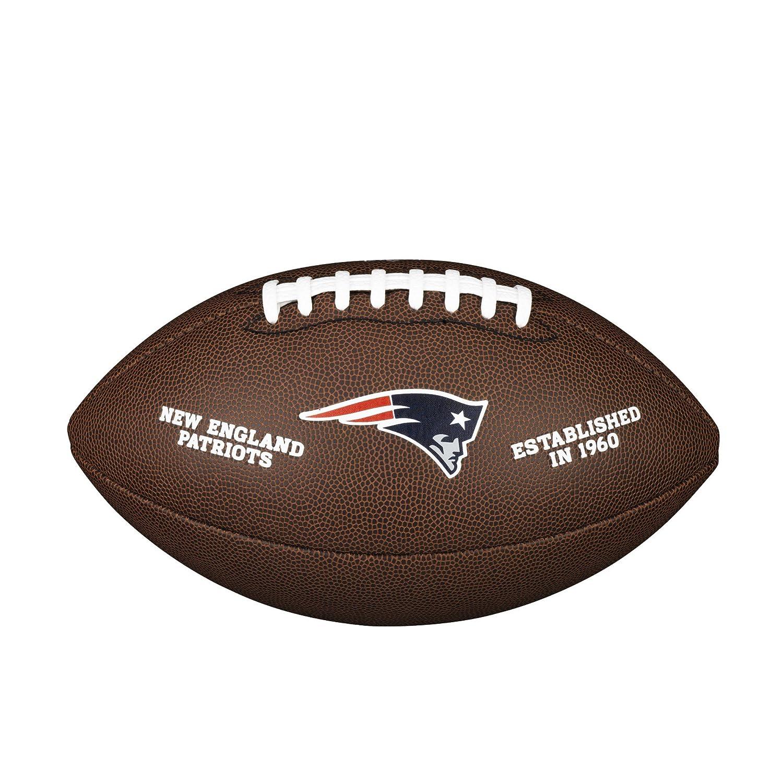 Wilson New England Patriots Football (American Football), mit offiziellem Logo WTF1748 NE