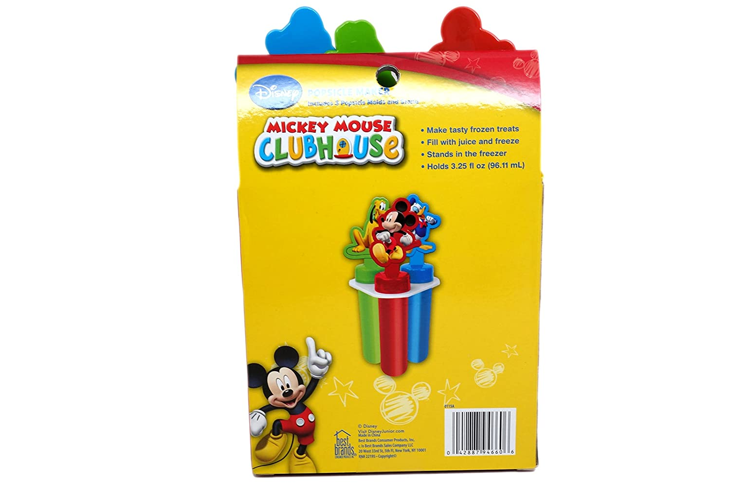 6 Popsicle Molds in Total Styles Vary Disney Popsicle Maker Molds 2-Pack