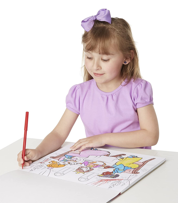 Princesses 9432 Parties Melissa /& Doug Magic-Pattern Marker Kids Coloring Pad Princesses Ponies and More Melissa /& Doug Magic-Pattern Marker Kids/' Coloring Pad