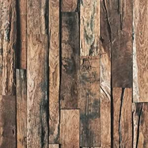 "197""x17.7""Reclaimed Wallpaper Wood Contact Paper Self Adhesive Rustic Wood Peel and Stick Wallpaper Removable Distressed Faux Wood Plank Wallpaper Decorative Vinyl Film Shelf Drawer Liner Roll"
