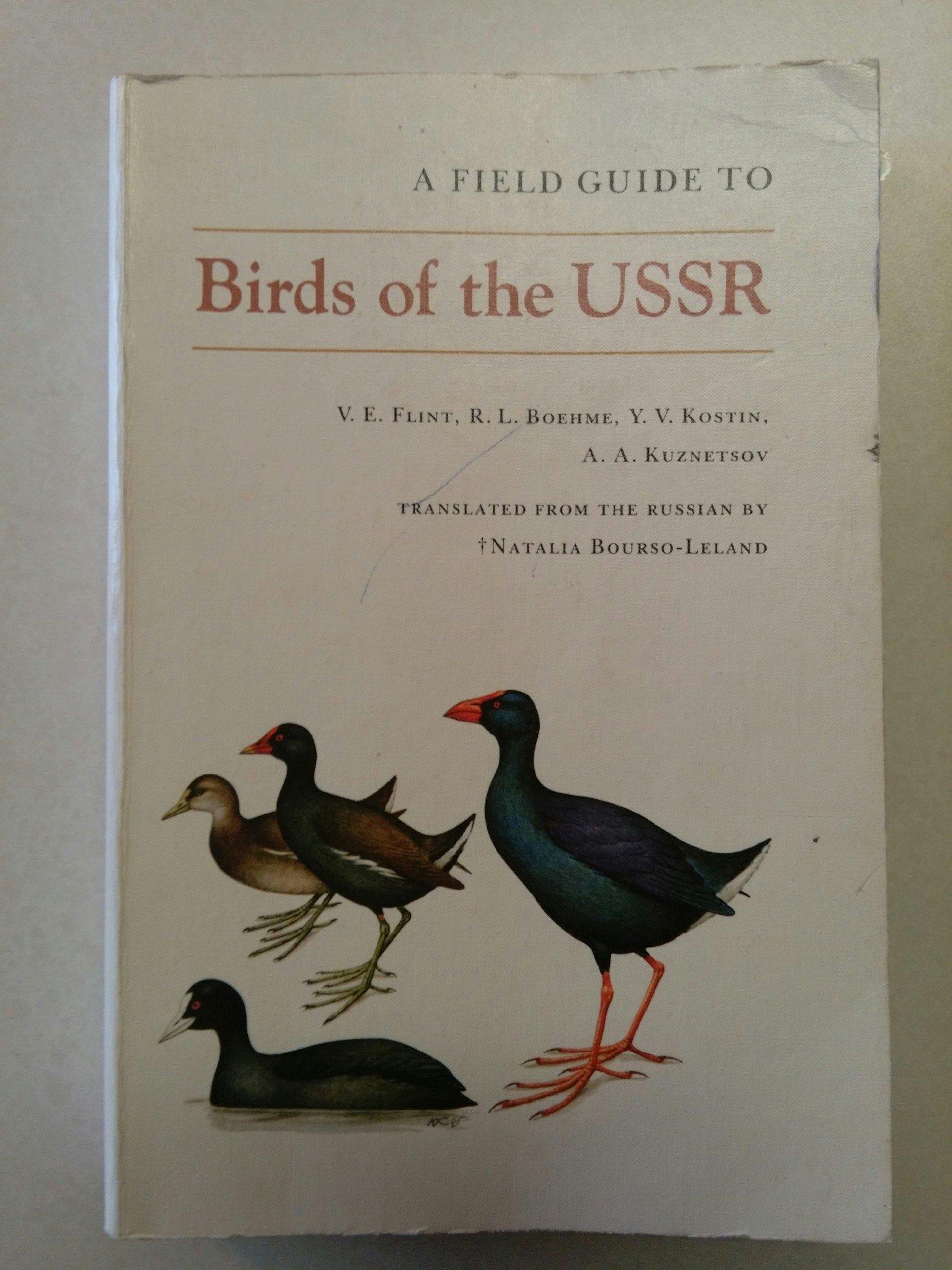 A Field Guide to Birds of Russia and Adjacent Territories: Vladimir  Evgenevich Flint, L. Boehmer, Natalia Bourso-Leland: 9780691082448:  Amazon.com: Books