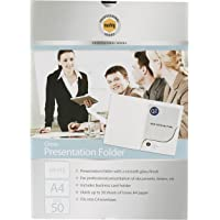 MARBIG(R) 1104308 Presentation FOLDERS, A4 Gloss White BX50