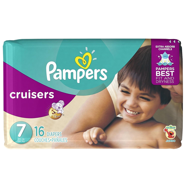 Pampers Cruisers pañales - Talla 7 - 16 ct: Amazon.es: Salud y cuidado personal