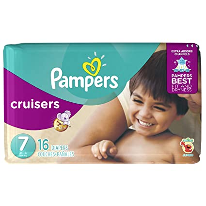 Pampers Cruisers pañales – Talla 7 – 16 ct